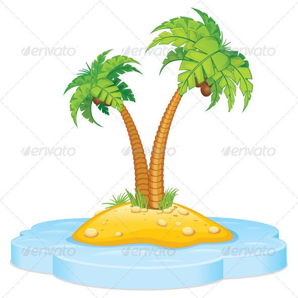 Palm Tree clipart caribbean food Trees Tropic with Island Palm