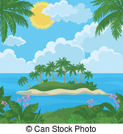 Islet clipart tropical island Island  Free Tropical vector
