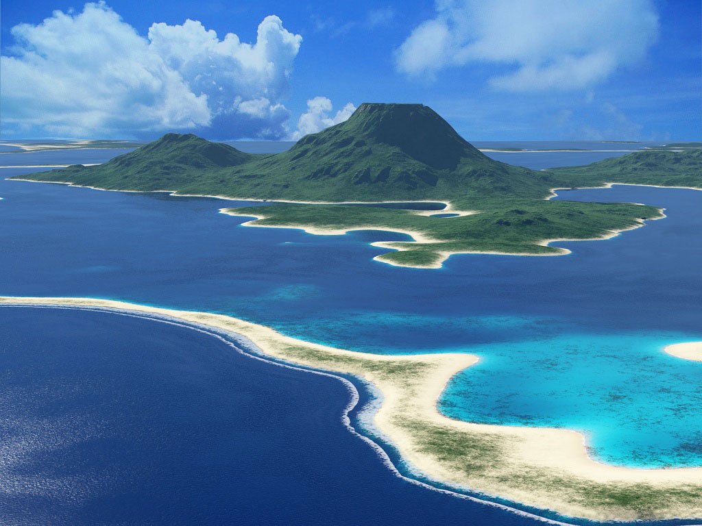 Islet clipart wallpaper Aerial 768pix Art Nature pix