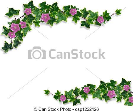 Ivy clipart border Periwinkle Ivy and border illustration