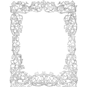 Ivy clipart decorative And border Public  Borders