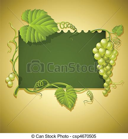 Ivy clipart grape leaves Frame green leaves and and