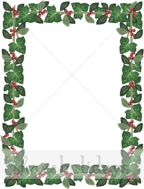 Ivy clipart holly and ivy Ivy and Holly and Frame