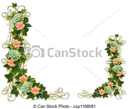 Ivy clipart line  flowers Floral Clipart of