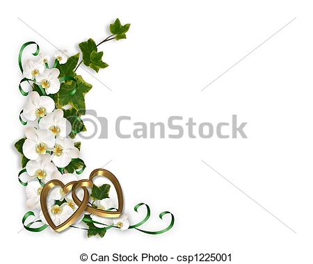 Ivy clipart line Image and Orchids  csp1225001