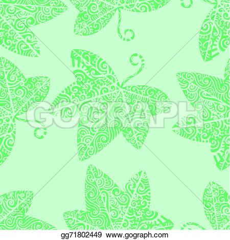 Ivy clipart tribal Background Illustration Tribal EPS leaf