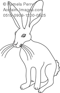 Jack Rabbit clipart Illustration a a and Rabbit