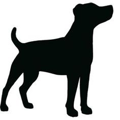 Jack Russell Terrier clipart Russell Silhouette Jack illustration embroidery