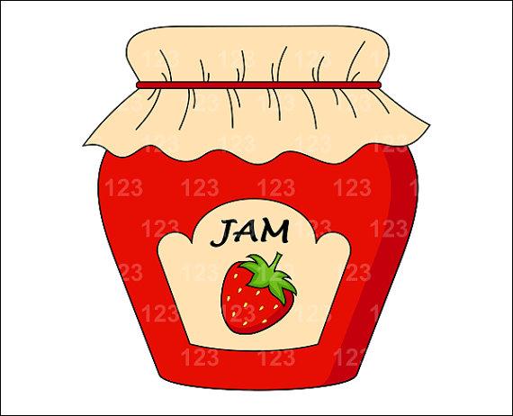Jar clipart strawberry jam Art Free Strawberry Single similar