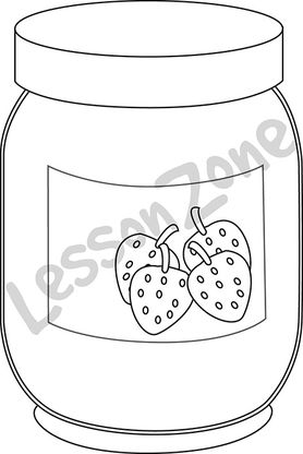 Jam clipart outline Art Lesson AU B&W Jam