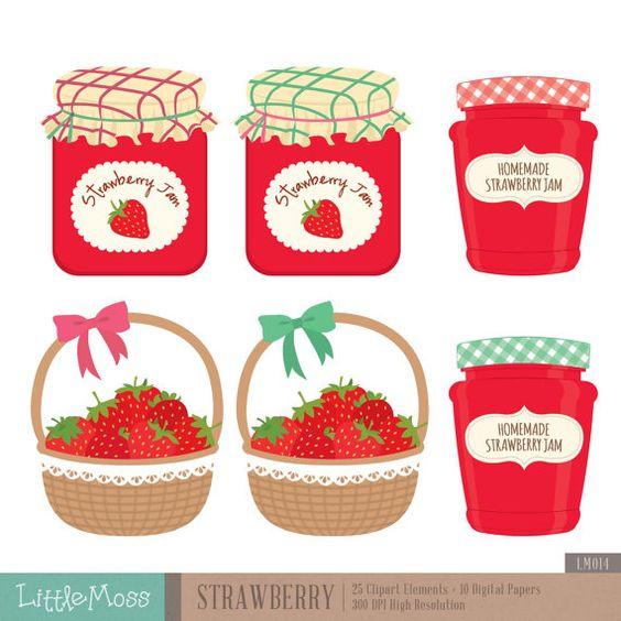 Jam clipart stawberry Jam Digital Jam Strawberry Paper