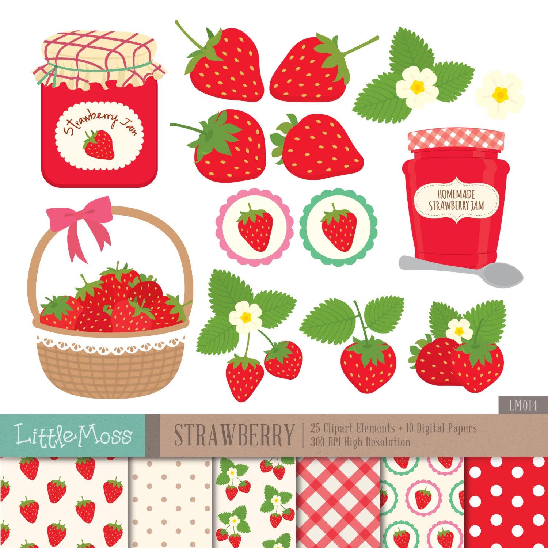 Jam clipart stawberry Strawberry Jam  This Digital
