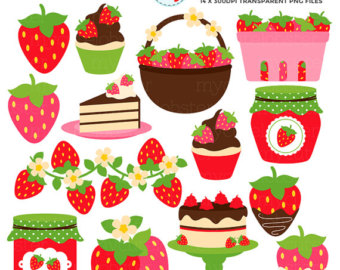 Jam clipart stawberry Set cake Strawberries of Strawberry