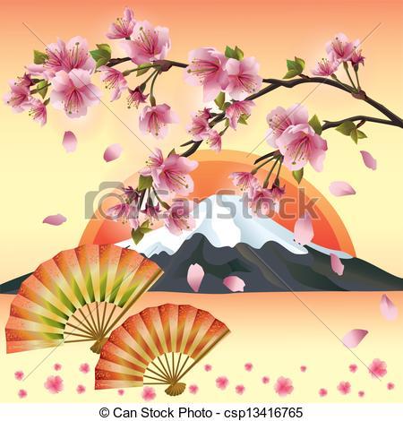 Sakura clipart japanese cherry blossom #14