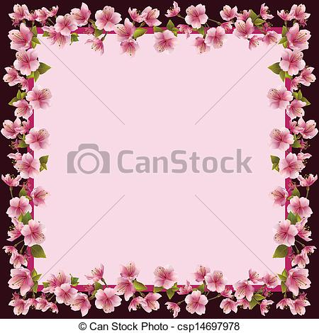 Blossom clipart frame Japanese of blossom csp14697978 blossom