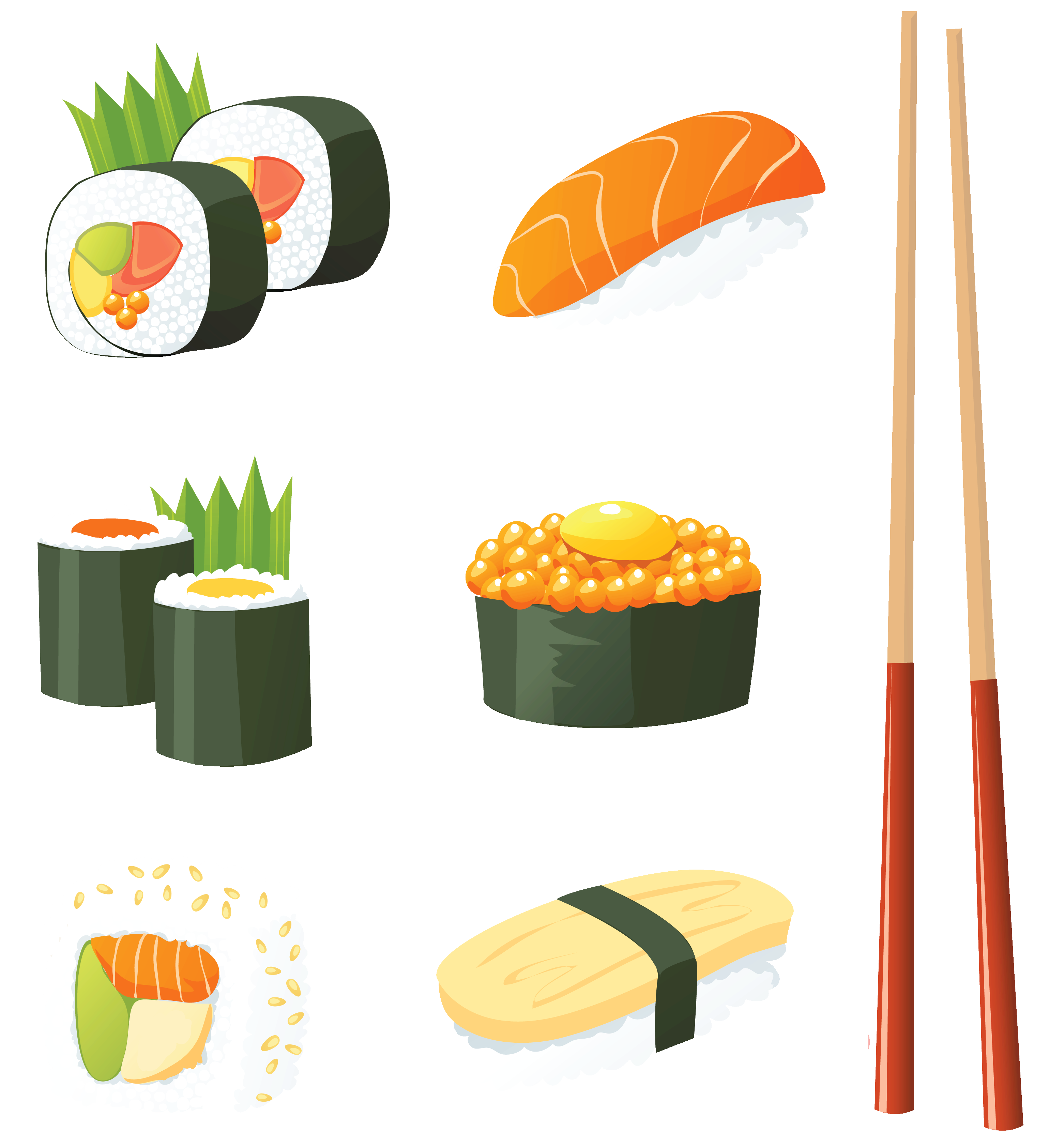 Sushi clipart vector Gclipart Japanese com sushi –