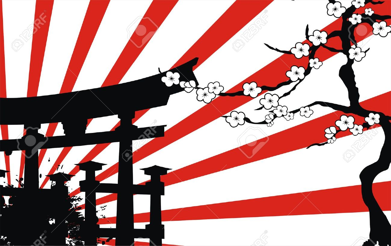 Bamboo clipart japan Vector japan in  Stock