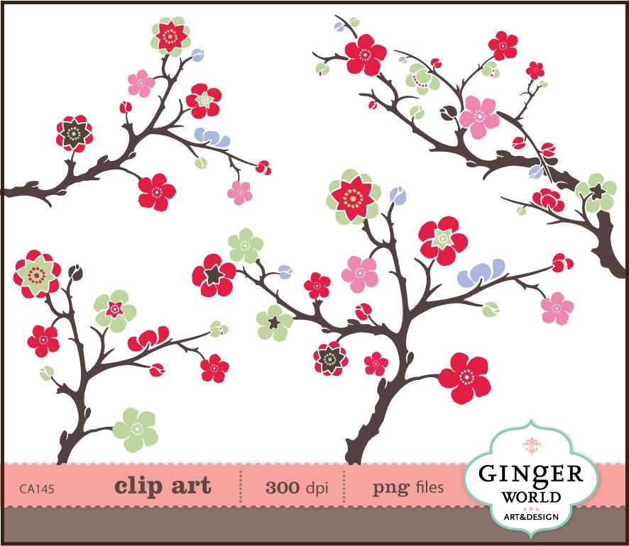 Sakura clipart japanese cherry blossom #10