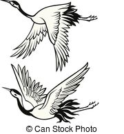 Japanese Crane clipart Japanese Illustrations Vector crane Vectorby