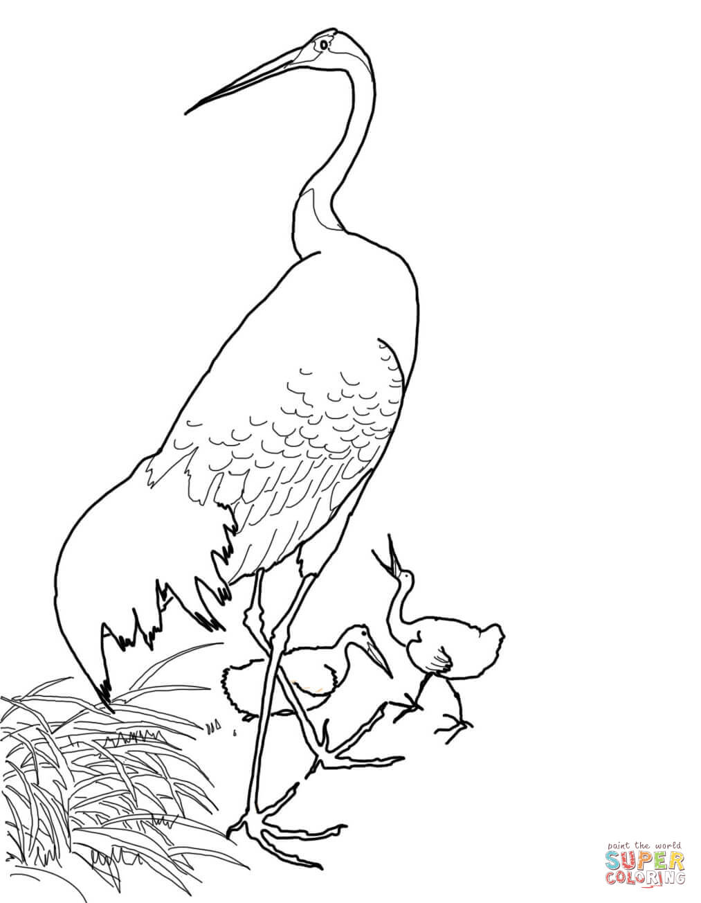 Japanese Crane clipart Koson by Red Japanese Red