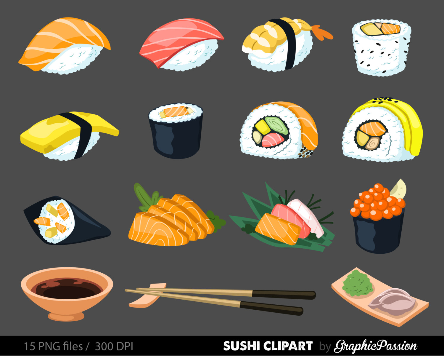 Japanese Food clipart Clipart Japanese Download Instant Commercial
