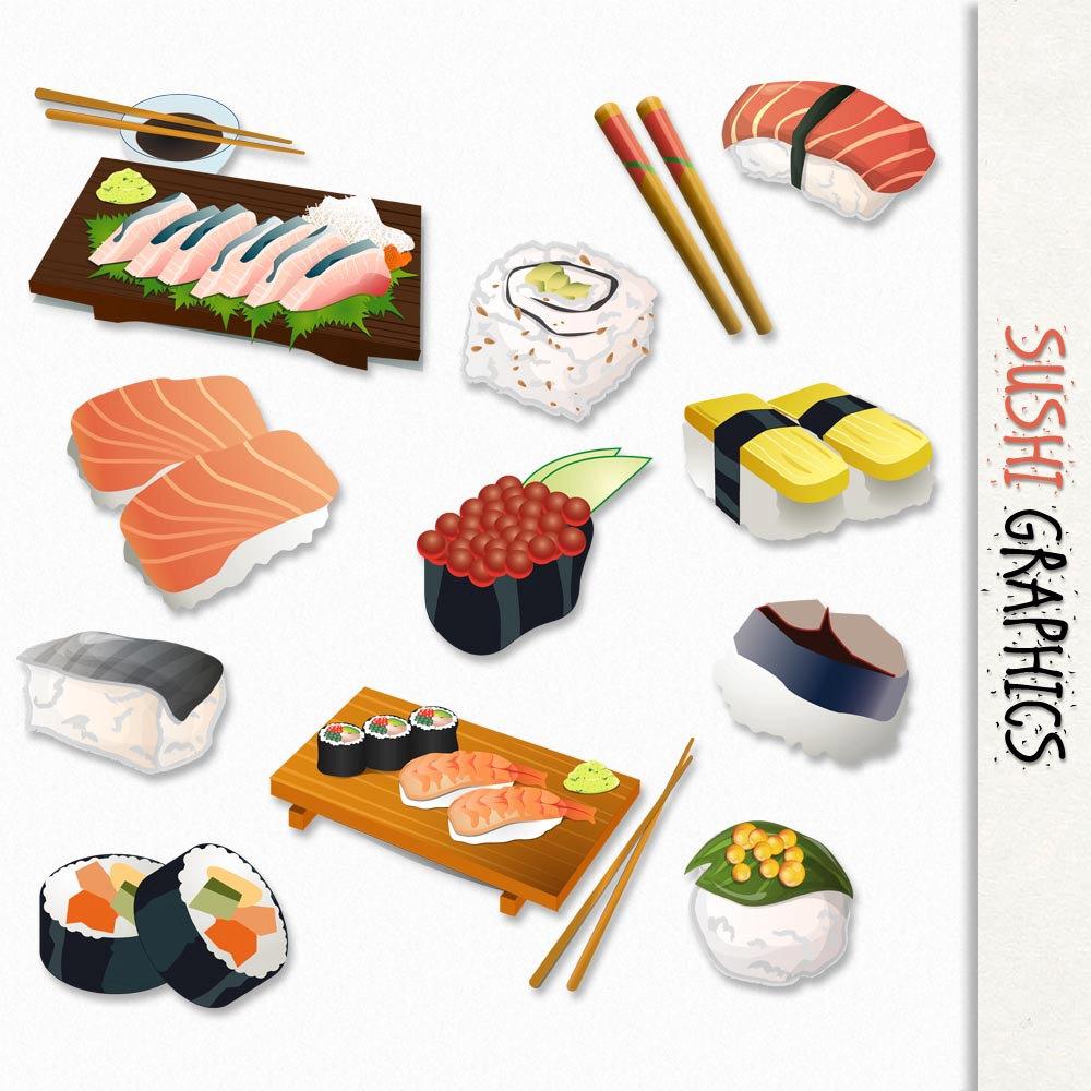 Japanese Food clipart Clip Transparent Fish Images Art