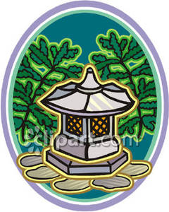 Japanese Garden clipart Clipart Lantern Garden Lantern Free