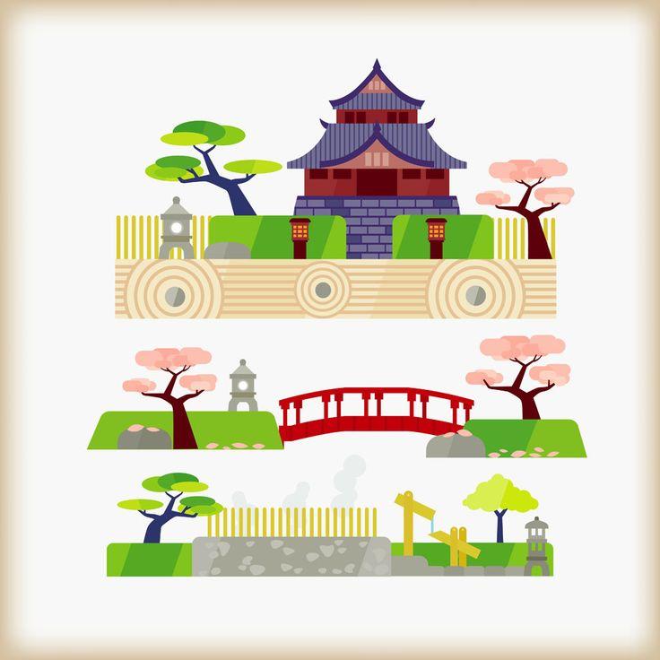 Japanese Garden clipart Pinterest jpg Vector Japanese on