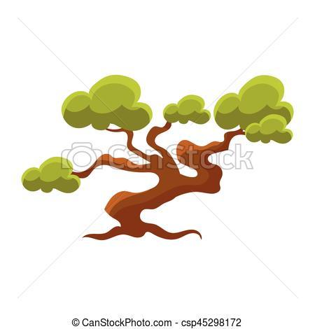 Japanese Garden clipart japanese tree Of  Illustration Garden Green