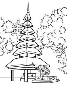 Japanese Garden clipart japanese tree  (Cartoons garden japanese Pagoda