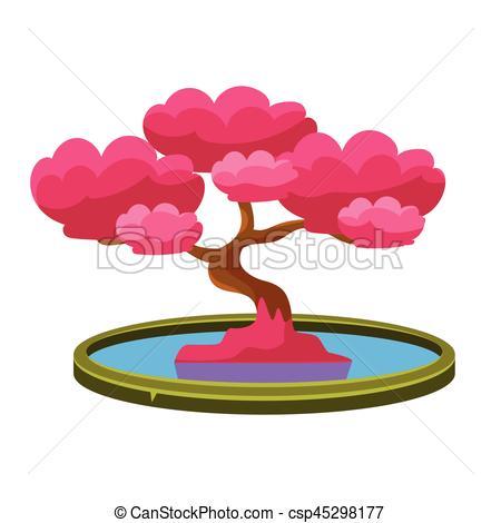 Japanese Garden clipart japanese tree Vectors  Pond In csp45298177