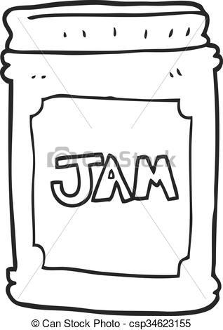 Black & White clipart jam Clipart Vector jam freehand drawn