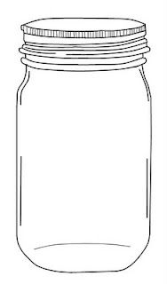 Jar clipart black and white By printable mason Creative free