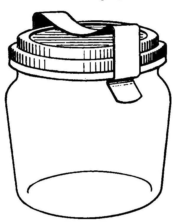 Jar clipart black and white Jar art jar mason Mason