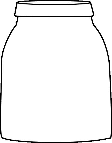 Jar clipart black and white White Black and Art Black