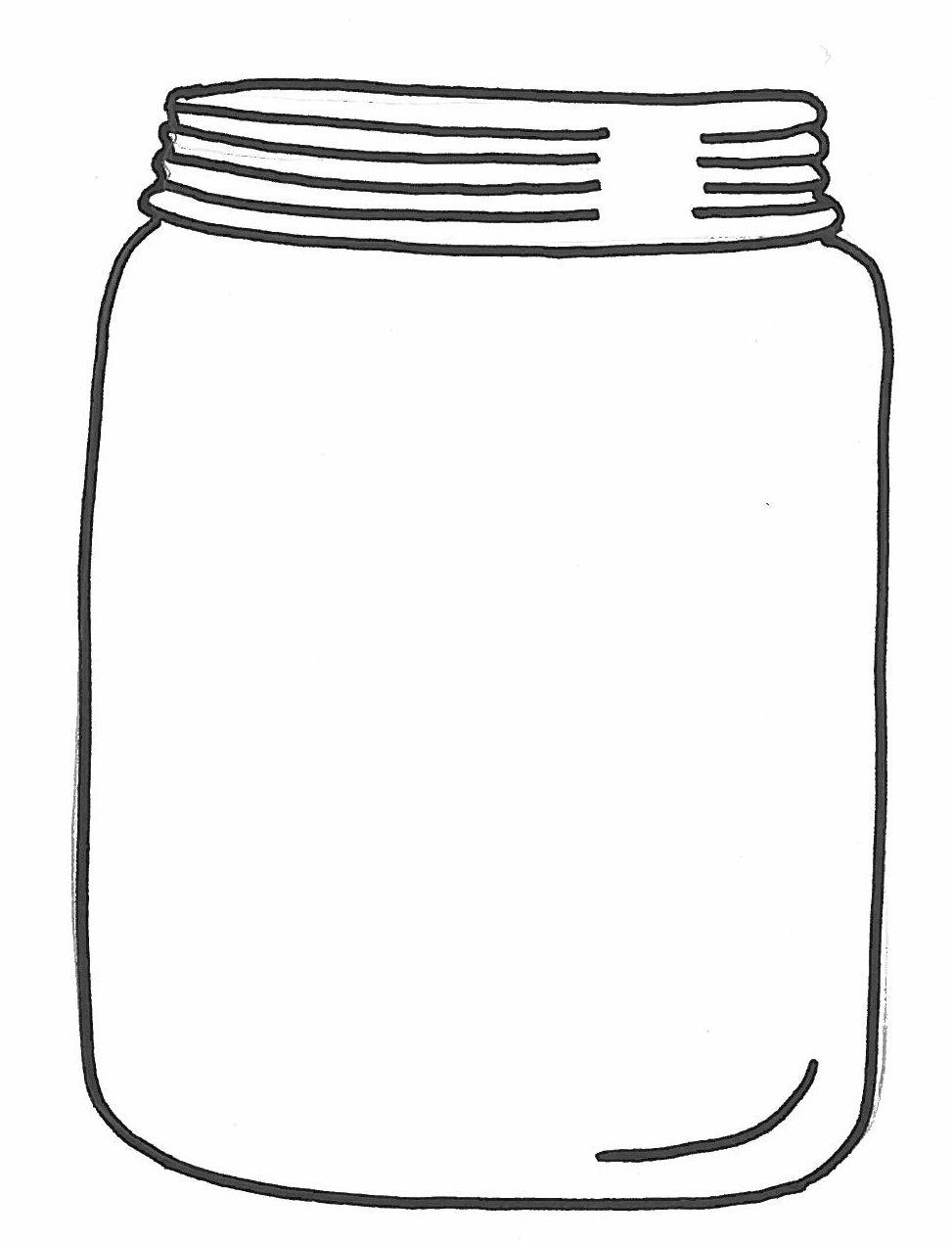 Jar clipart black and white Art Clip Mason Print White