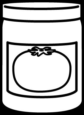 Sauce clipart black and white And Black Sauce Spaghetti Jar
