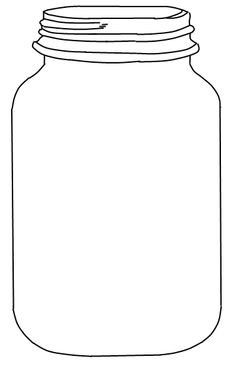 Jar clipart black and white Finally Drinks Mason Free Explore
