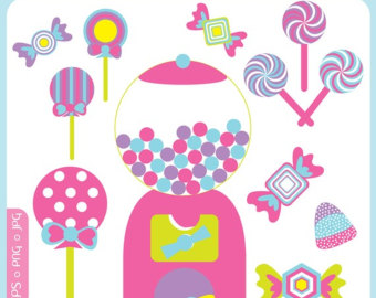 Lollipop clipart pink candy Machine Clip bubble Jar Candy