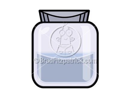 Jar clipart cartoon Stock Royalty Jar Jar Royalty