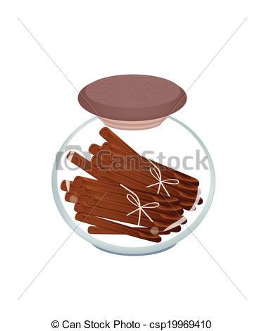 Jar clipart cinnamon Art Jar Cinnamon Background of