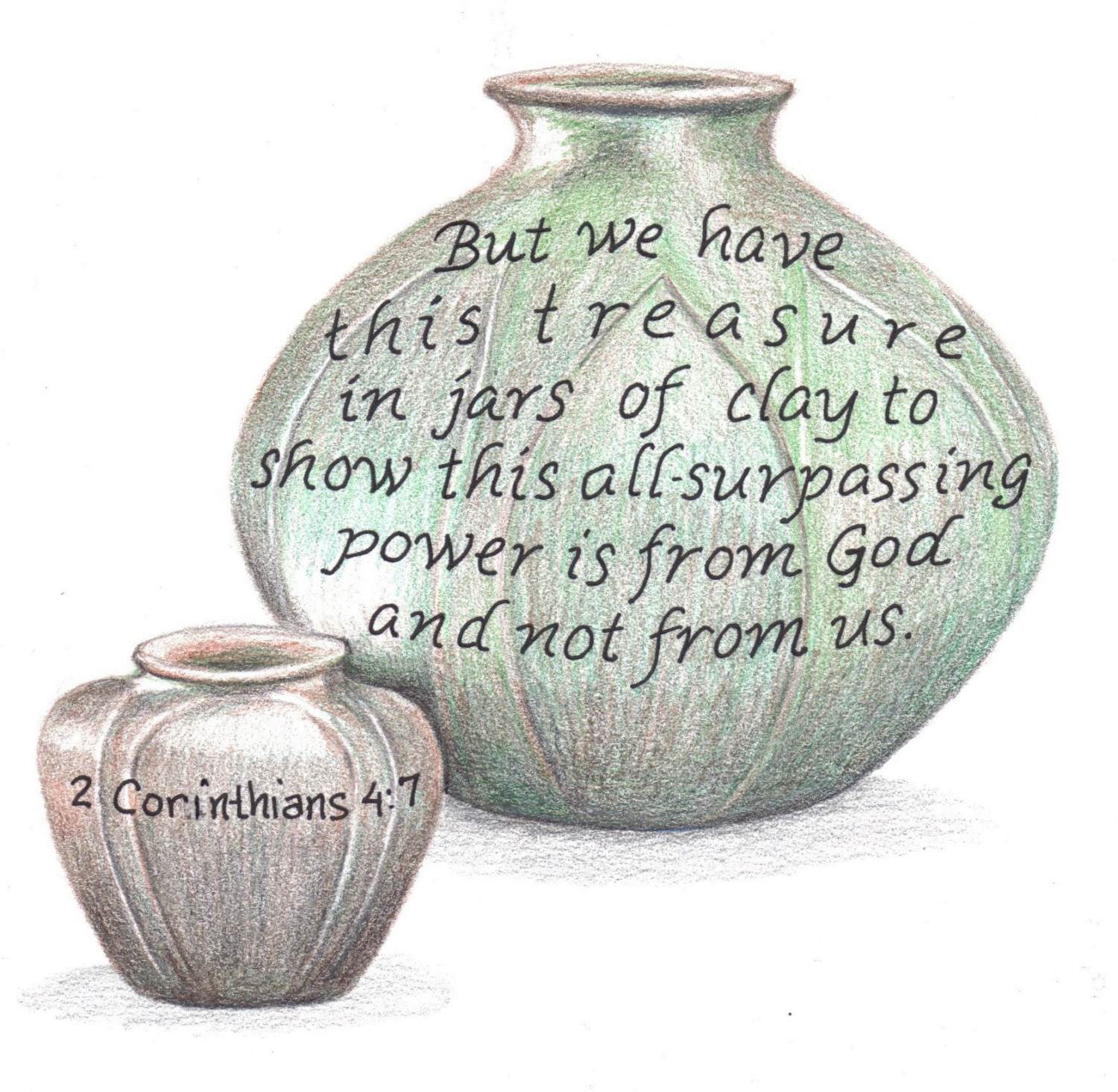 Jar clipart clay pottery Bible design this of scripture