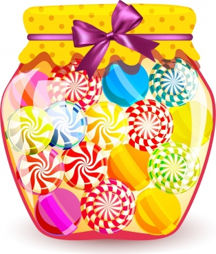 Jar clipart colorful candy (339 candies for Free decoration