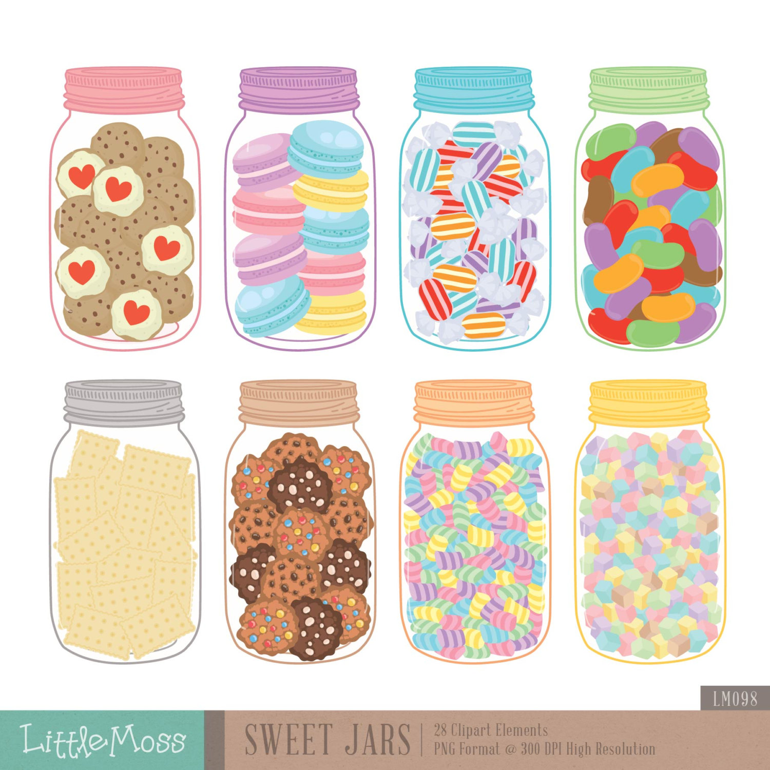 Candy Bar clipart jar sweet Clipart Clipart Sweet Etsy Clipart