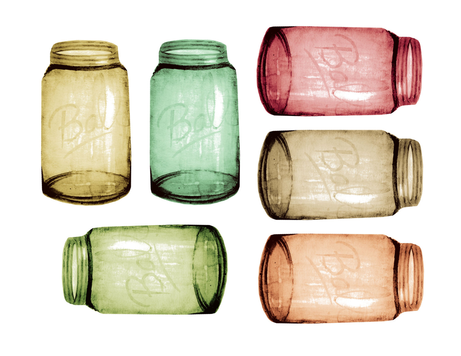 Jar clipart country Country mason wedding file clipart