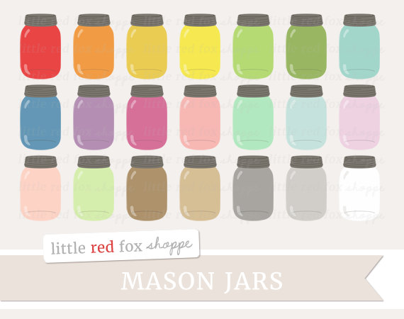 Jar clipart cute jar Shabby Etsy Art Chic Jar