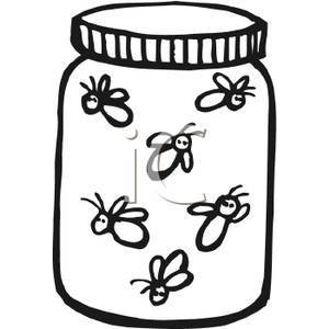 Mason Jar clipart bug jar Free Fireflies Picture White In