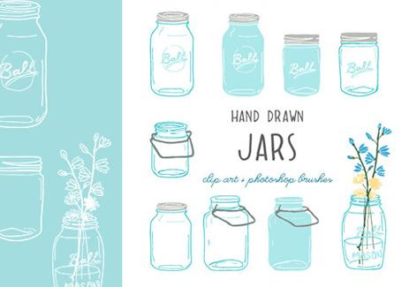 Turquoise clipart mason jar #7