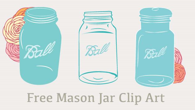 Turquoise clipart mason jar #8
