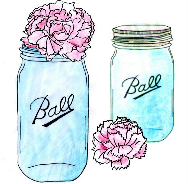 Turquoise clipart mason jar #4